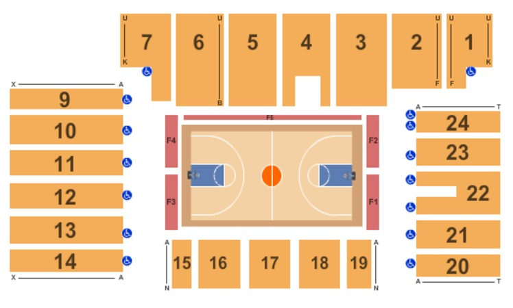 Five Flags Center - Arena Basketball