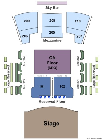 Bass Performance Hall Reserved And GA Floor