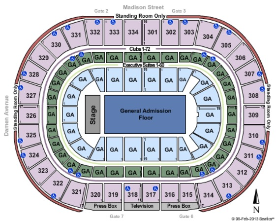 United Center GA Floor Lower Club Reserved