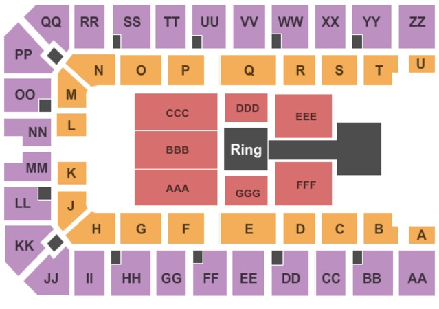 Ector County Coliseum Seating Chart Ector County Coliseum Wwe
