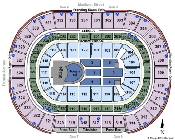 United Center Tickets In Chicago Illinois United Center