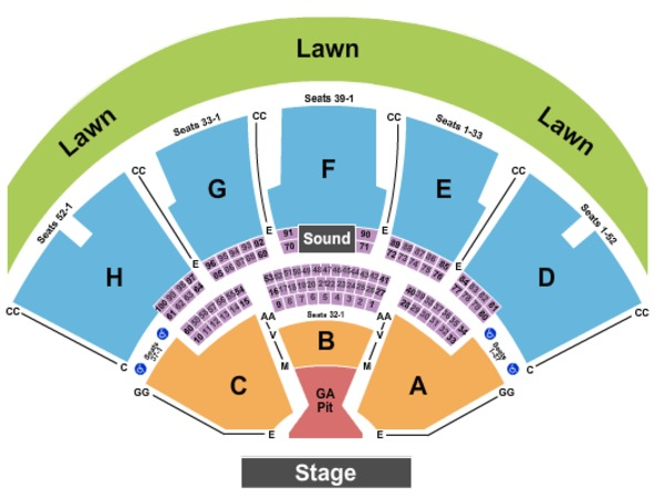 Ruoff Home Mortgage Music Center End Stage GA Pit (To Row M)