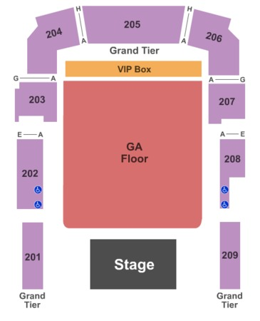 Revention Music Center End Stage GA Floor VIP Box