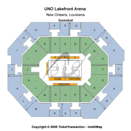 UNO Lakefront Arena Basketball