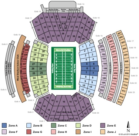 Memorial Stadium Tickets In Lincoln Nebraska Memorial