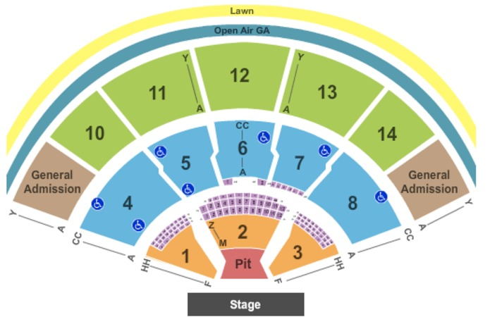 Xfinity Center Endstage Pit - Reserved and GA
