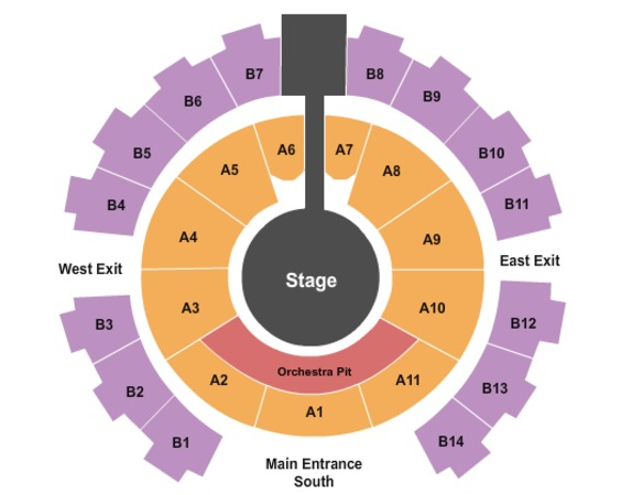 Celebrity Theatre Seating Chart | SeatGeek