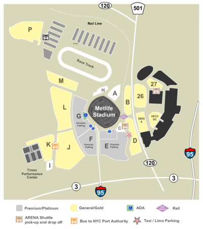 Metlife Stadium Parking Lots Tickets In East Rutherford