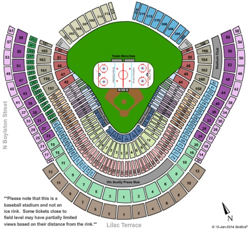 Dodger Stadium Seating Map on