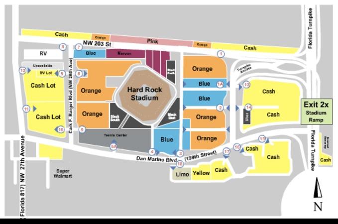 hard rock stadium parking lots tickets in miami gardens