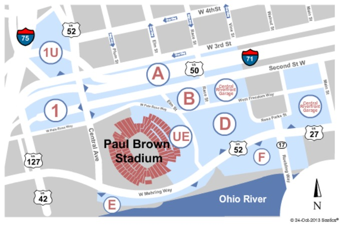 Paul Brown Stadium Parking Lots Parking