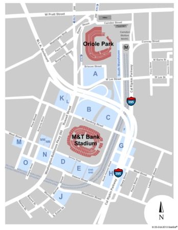 M Amp T Bank Stadium Parking Lots Tickets In Baltimore Maryland Seating Charts Events And Schedule