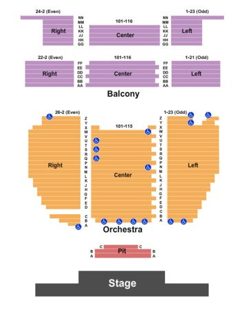 aztec theater seating chart