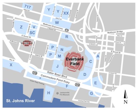 EverBank Field Parking Lots Tickets In Jacksonville