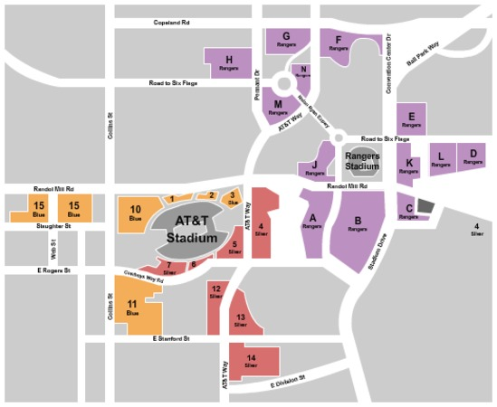AT&T Stadium Parking Lots