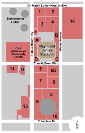 Raymond James Stadium Parking Lots Parking