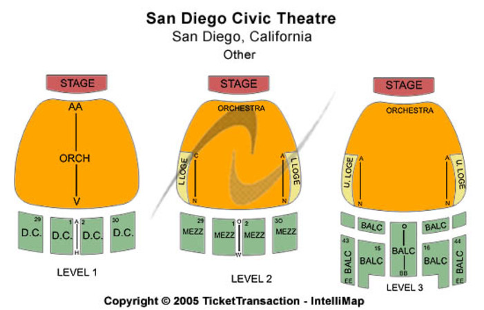 San Diego Civic Theatre Other
