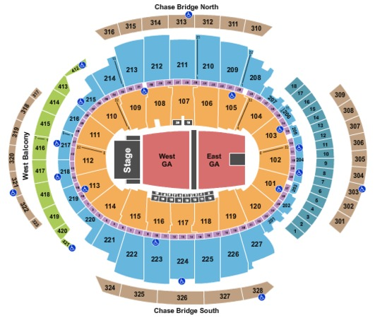 Madison Square Garden Full Floor East West GA P3