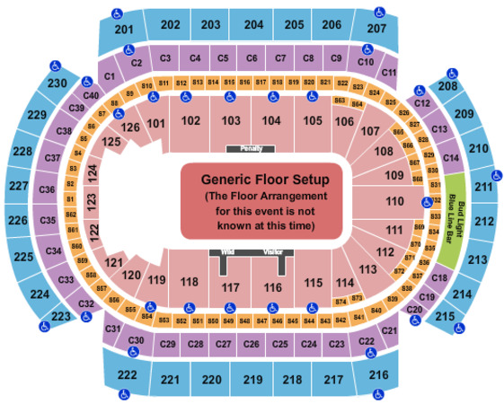 Xcel Energy Center Generic Floor
