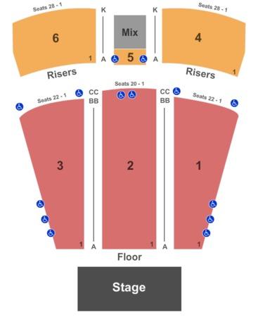 Etess Arena Seating Chart Trump Taj Mahal Mark G Etess