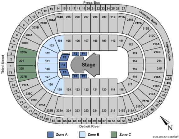 Joe Louis Arena Tickets in Detroit Michigan, Joe Louis Arena Seating ...