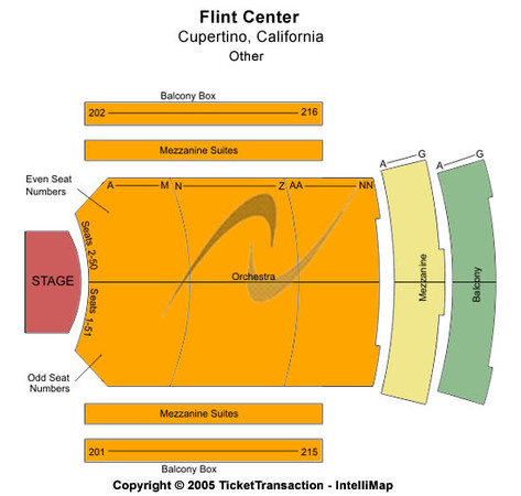 The Flint Center For The Performing Arts Tickets In Cupertino California Seating Charts Events And Schedule