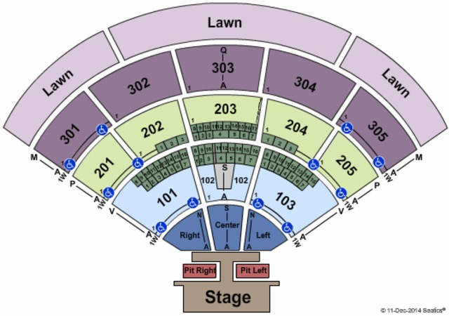 Mattress Firm Amphitheatre Endstage Pit Left and Right