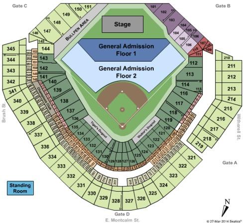 Comerica Park Tickets in Detroit Michigan, Comerica Park ...