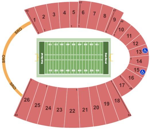 Sun Bowl Stadium Football
