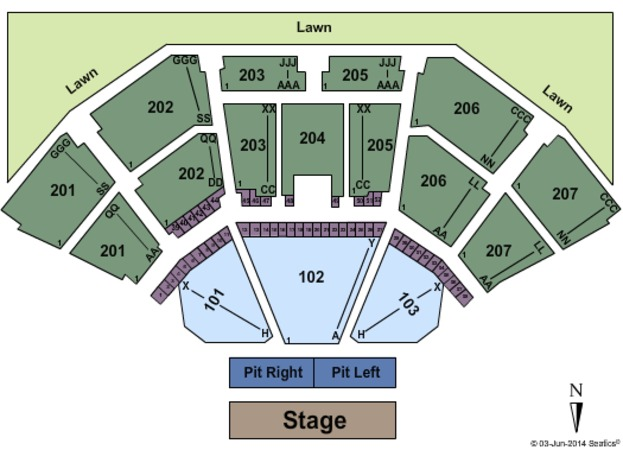 cellairis amphitheatre lakewood lawn rateyourseatscom