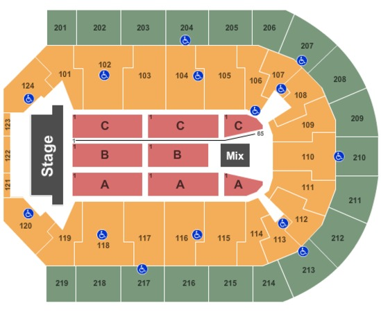 Denny Sanford Premier Center Seating Chart