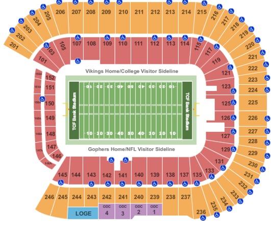 TCF Bank Stadium Tickets in Minneapolis Minnesota, TCF ...