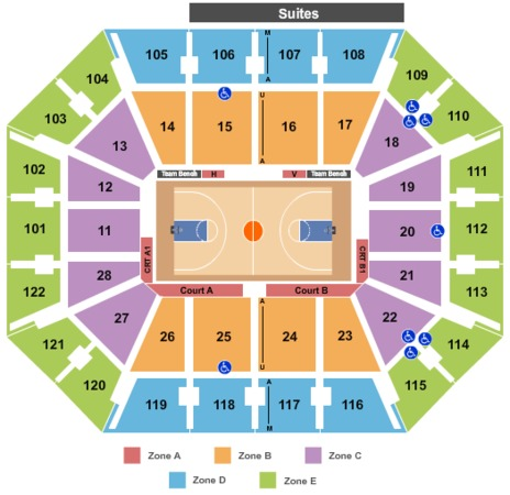 Mohegan Sun Arena Basket Int Zone