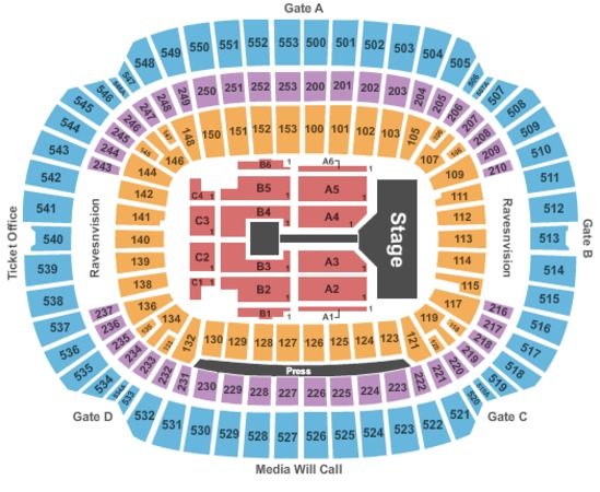 M&T Bank Stadium One Direction