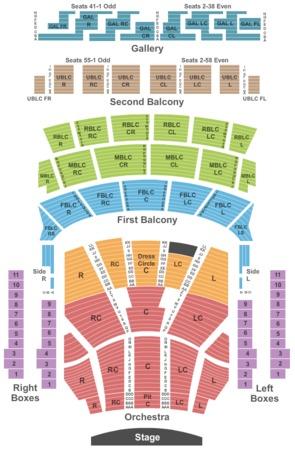 Auditorium Theatre Tickets In Chicago Illinois Auditorium