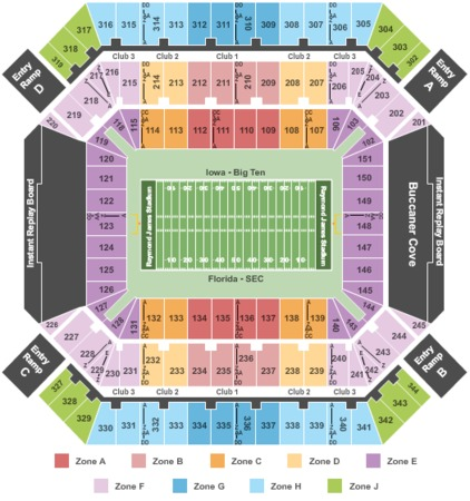 Raymond James Stadium Bowl Game Int Zone