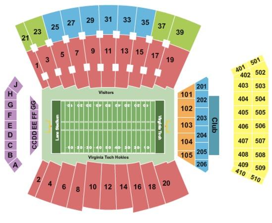 Lane stadium tickets in blacksburg virginia lane stadium seating