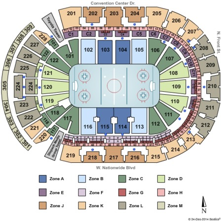 Nationwide Arena NHL All Star Int Zone