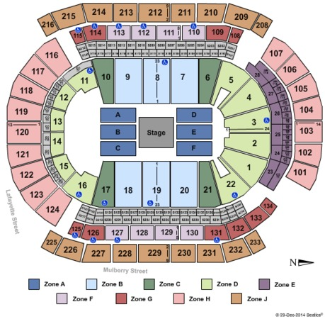 Prudential Center Center Stage Int Zone