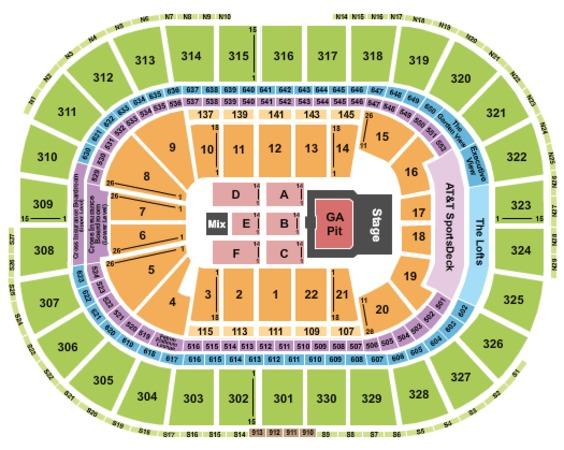 td bank north arena seating chart