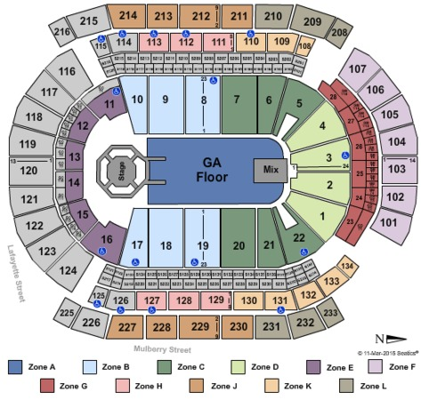 Prudential Center Eric Church Int Zone