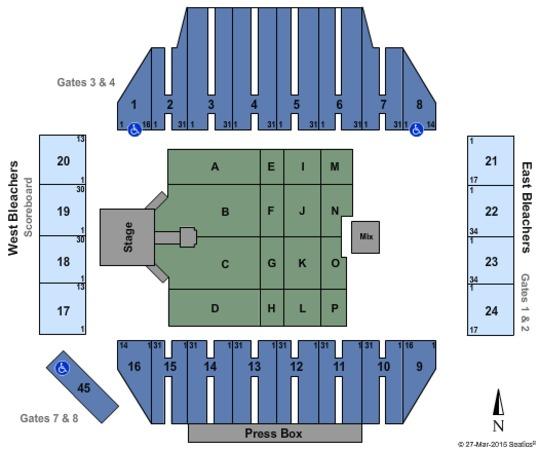 fawcett stadium seating chart