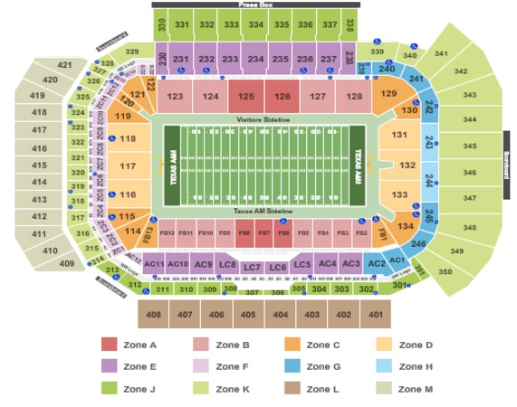 Kyle Field Tickets In College Station Texas Kyle Field