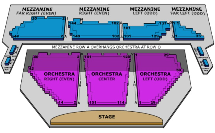 Winter Garden Theatre Seating Chart
