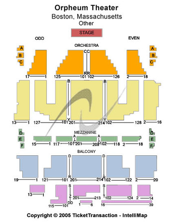 orpheum theater los angeles seating chart