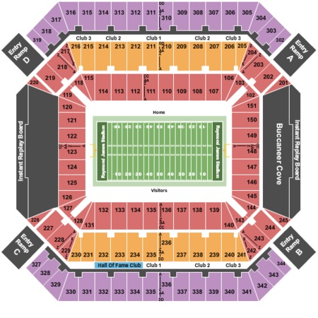 Raymond James Stadium Seating
