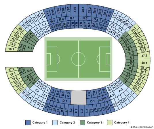 Olympiastadion Sitzplätze