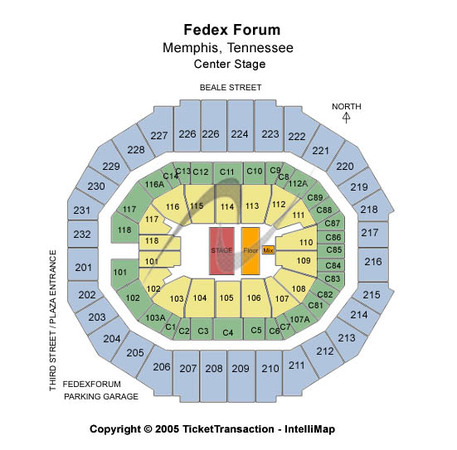 FedExForum Center Stage