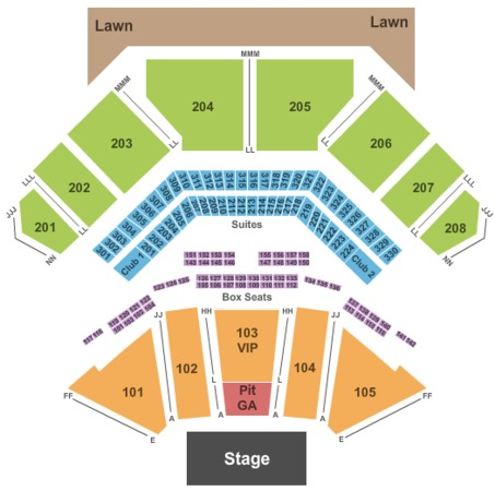 Hollywood Casino Amphitheatre Reserved Seating Half GA Pit