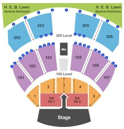 Austin 360 Amphitheater Seating Chart Large Dog Gate